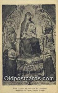 Madonna in trono Religion, Religious Old Vintage Antique Postcard Post Cards ...