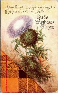 GUDE BIRTHDAY WISHES - GERMAN  - Postcard Old Vintage Card View Standard PC