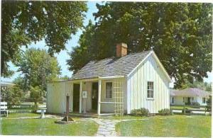 President Herbert Hoover Birth House in West Branch, Iowa, IA, Chrome