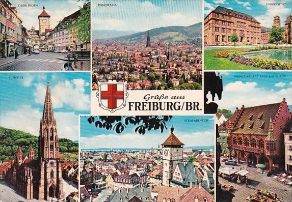 Germany Freiburg Gruesse Aus With Multi View