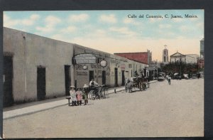 Mexico Postcard - Calle Del Comercio, C.Juarez      RS15859
