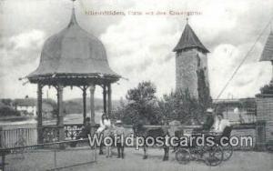 Rheinfelden Germany, Deutschland Postcard Partie aus dem Kronengarten Rheinfe...