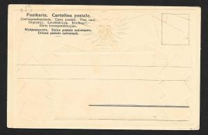 GERMANY Stamps on Postcard Embossed Shield Unused c1905