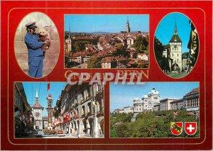 Postcard Modern Berengraben Bundeshaus und Zeitglockenturm