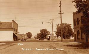 Avon Minnesota Street Scene Real Photo Vintage Postcard K101210