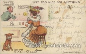 Artist Signed R.F. Outcaust 1906 light crease right top edge, light corner we...