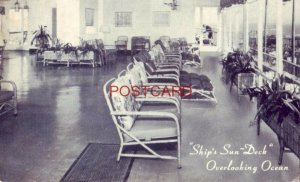1950 THE FAMOUS SHIP'S SUN-DECK of the COLTON MANOR HOTEL, ATLANTIC CITY, N J