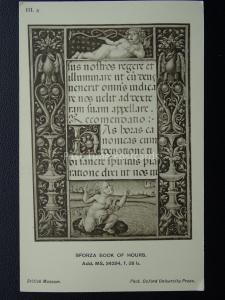 Sforza Book of Hours CHERUB III.3 Old Postcard by O.U.P.