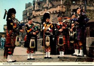 Scotland Edinburgh Castle Scottish Pipers 1977