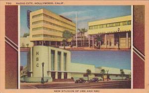 California Hollywood Radio City New Studios Of CBS and NBC