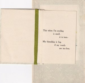 BIRTHDAY, 1900-10s; Bi-fold, Pansies, Poem, Country Scene