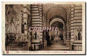 Sabart near Tarascon Old Postcard The Virgin and & # & # 39interieur of 39eglise