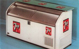 7-UP Machine Dexter Press Wm. R. Agnew New York NY Salesman Advertising Postcard