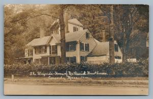 CONCORD MA WAYSIDE HOME of NATHANIEL HAWTHORNE ANTIQUE REAL PHOTO POSTCARD RPPC