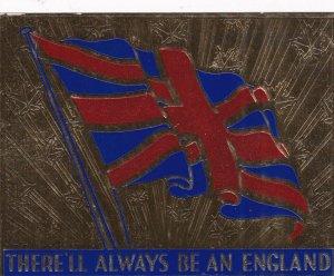 ENGLAND, United Kingdom, 1910-20s; British Flag, Gold Background