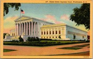 US Supreme Court Linen Washington DC Government Buildings POSTCARD UNPOSTED