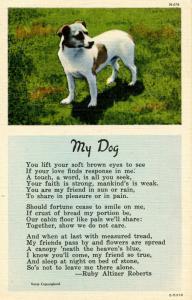 My Dog - Poem by Ruby Altizer Roberts
