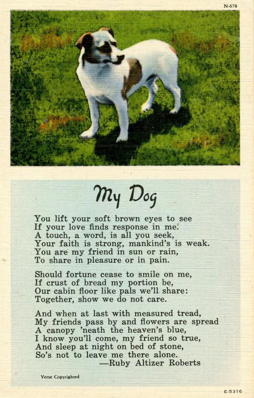 My Dog - Poem by Ruby Altizer Roberts