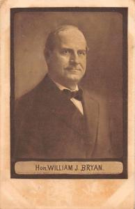 Hon. William J Bryan Political Politician Antique Postcard J81272