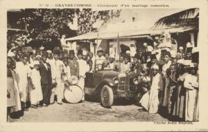 comoros, GRANDE COMORE, Comorian Wedding Ceremony, Old Car, Instruments (1920s)