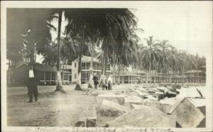 Panama Cristobal Canal Zone c1910 Amateur Real Photo Postcard