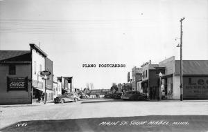 MABEL, MINNESOTA MAIN STREET SOUTH, COKE SIGN-1949 RPPC REAL PHOTO POSTCARD