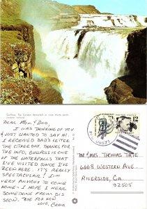 Gullfoss, The Golden Waterfall in river Hvita southwestern Iceland