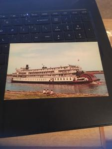 Vintage Postcard: Steamboat on the mississippi, St Louis