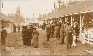 Vancouver BC People at Exhibition Canadian Photo Co. Real Photo Postcard G30