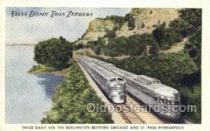 Vista Dome Twin Zephyrs, Chicago, IL USA Train, Trains, Locomotive, Old Vinta...