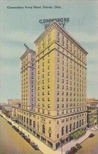 Ohio Toledo Commodare Perry Hotel 1948 Albertype