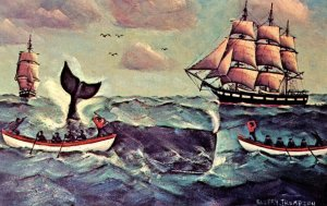 Whaling in New England by Artist: Cap'n Ellery F. Thompson