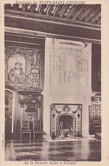 Chateau Du Clos De Vougeot Cheminee De La Grande Salle A Manger
