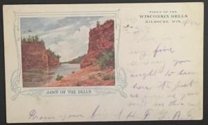 Jaws of the Dells Wisconsin Dells Kilbourn Wis 1906 Private Mailing Card
