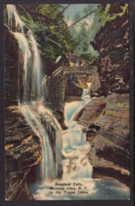 Rainbow Falls Watkins Glen NY Postcard 4252