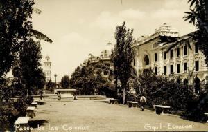 ecuador, GUAYAQUIL, Paseo be las Colonias (1930s) RPPC