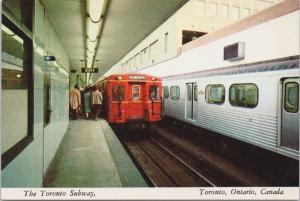 The Toronto Subway System Toronto Ontario ON Unused Vintage Postcard D55