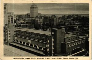 CPA AK CANADA Montreal P. Q. Gare Centrale C. N. R. (a404)