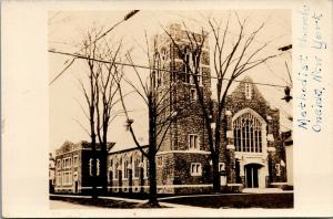 Oneida New York~Methodist Church~1930s Real Photo Postcard~RPPC