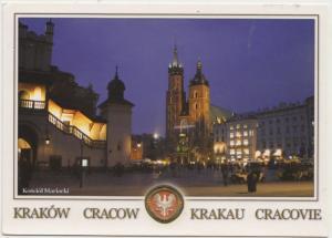 KRAKOW, CRACOW, Cloth Hall, St. Mary's Church, Poland, used Postcard