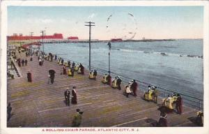 A Rolling Chir Parade Atlantic City New Jersey 1918