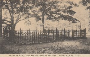 SOUTH HADLEY, Massachusetts, 1920-30s; Grave of Mary Lyon, Mt. Holyoke College