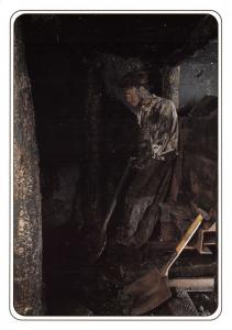 Postcard Eden Camp, The Bevin Boys, Coal Miners, Malton, North Yorkshire #M48
