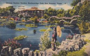 Texas San Antonio Sunken Chinese Garden Breckenridge Park 1944