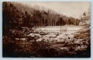 Postcard WV Glen Jean Fayetteville Area Creek Dam RPPC Real Photo c1909 U8