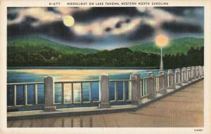 Postcard Moonlight on Lake Tahoma North Carolina