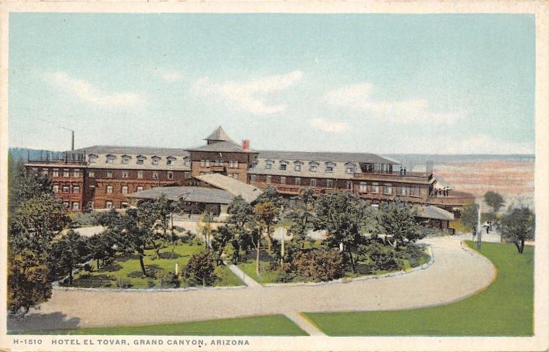 Grand Canyon AZ~Close=Up Hotel El Tovar~Detroit Publishing #H-1510 PC 1907