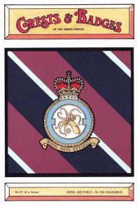 Postcard RAF Royal Air Force No.206 Squadron Crest Badge No.87 NEW