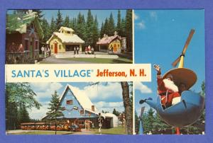 Santa's Village Postcard,Helicopter/Train, Jefferson, NH
