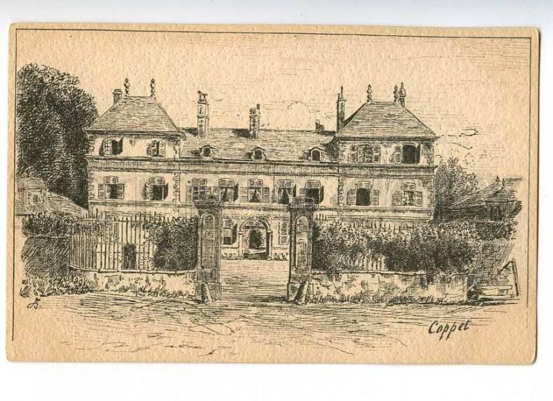 187913 Switzerland COPPET House Vintage Vouga postcard